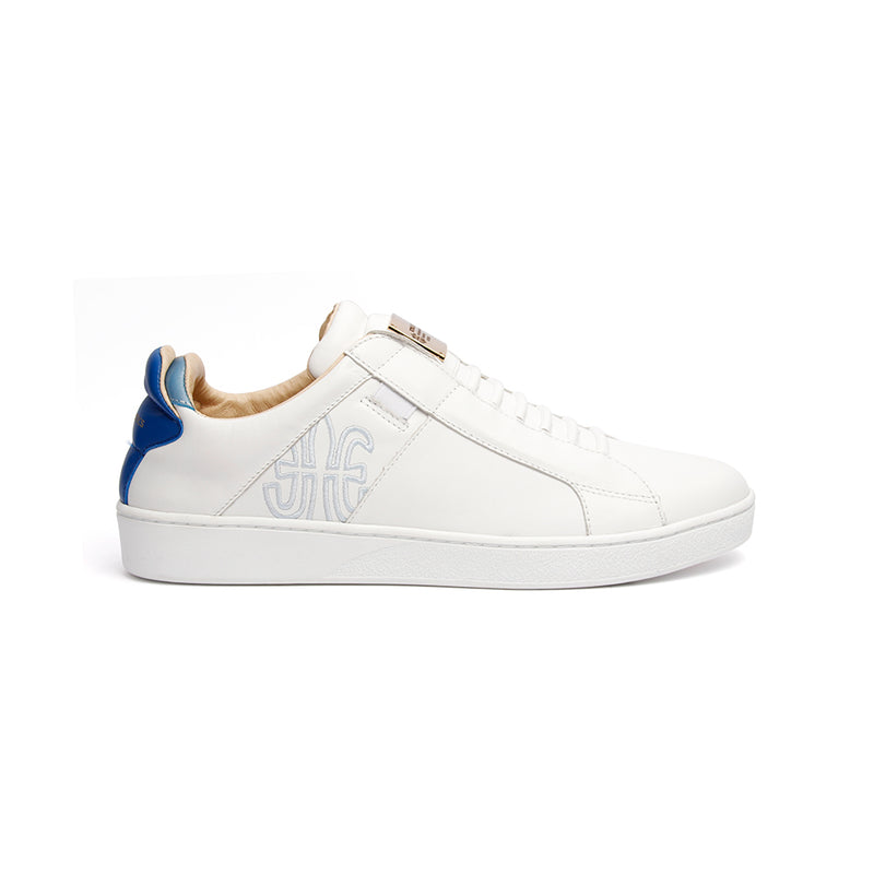 Men's Icon SBI White Blue Leather Sneakers 02592-005 - ROYAL ELASTICS