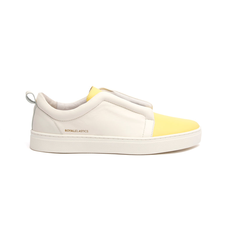 Men's Meister Yellow Leather Low Tops 04383-003 - ROYAL ELASTICS