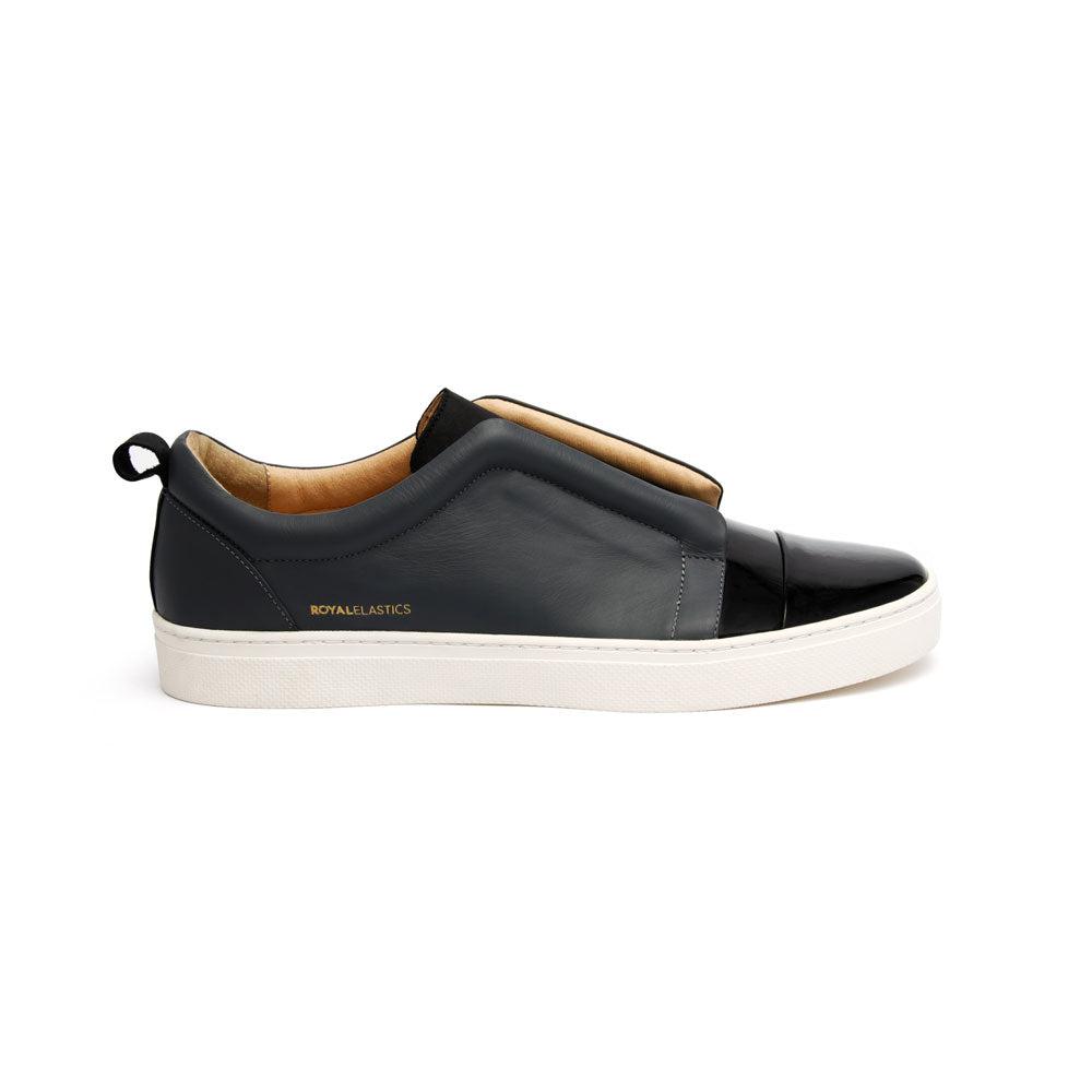Men's Meister Black Castlerock Leather Low Tops 04384-889 - ROYAL ELASTICS