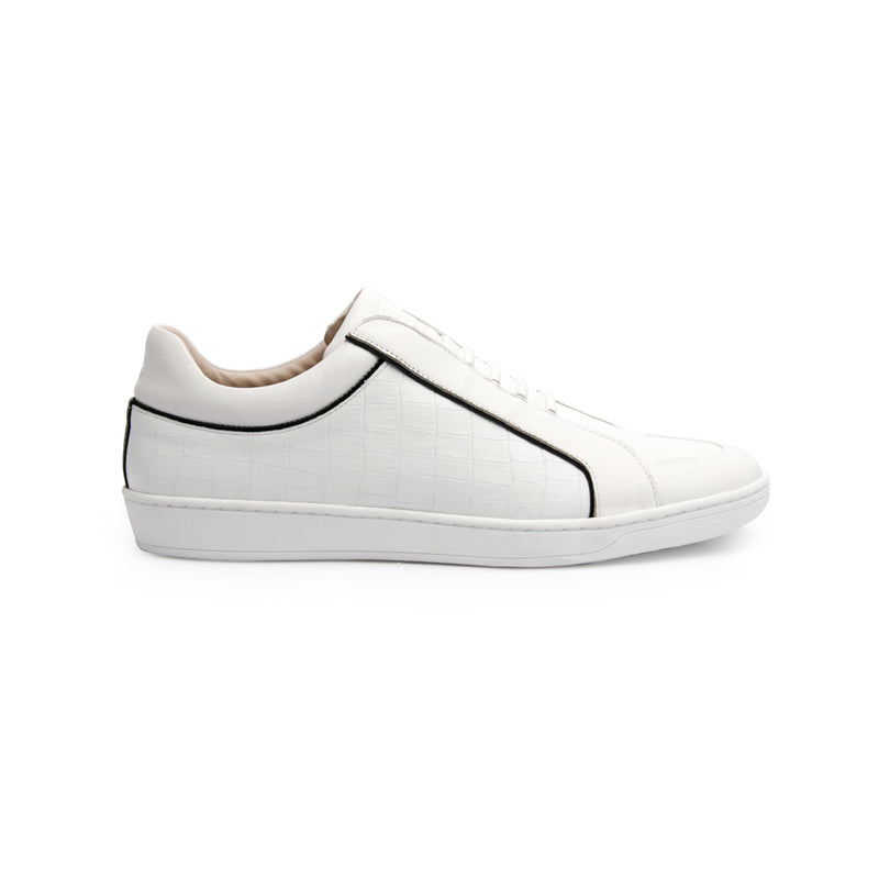 Men's Duke White Black Leather Sneakers 05291-009 - ROYAL ELASTICS