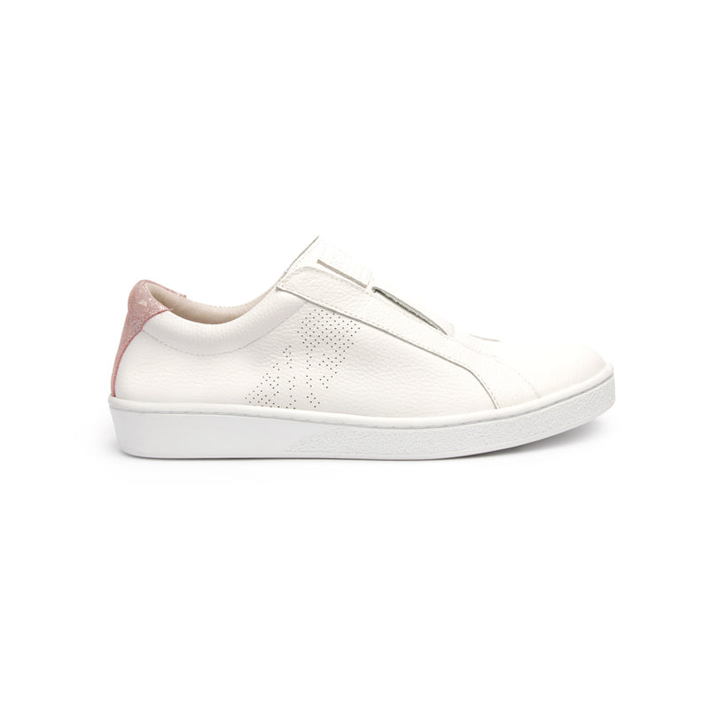 Women's Bishop Classic White Pink Leather Sneakers 91791-001 - ROYAL ELASTICS