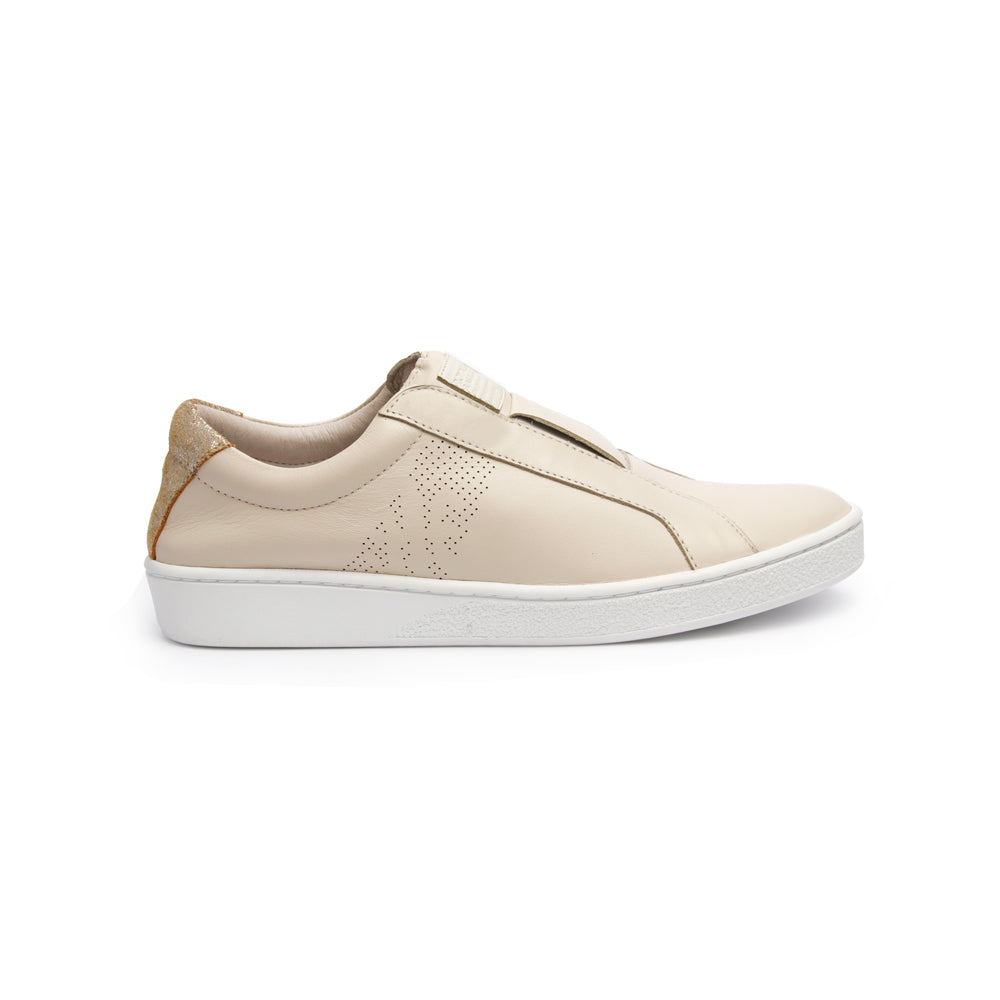 Women's Bishop Classic Gold Leather Sneakers 91791-003 - ROYAL ELASTICS