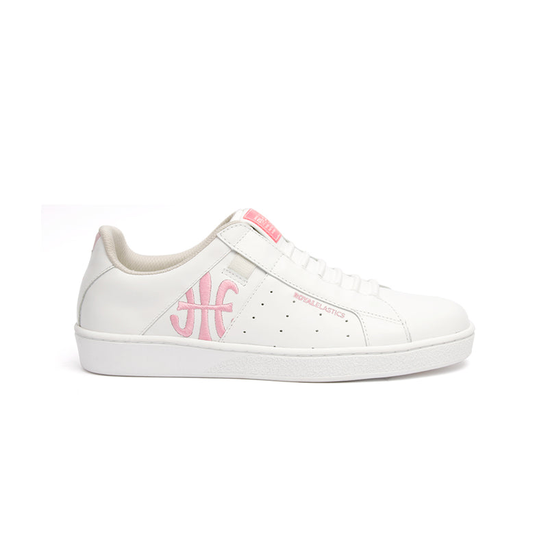 Women's Icon Genesis Bubblegum White Pink Leather Sneakers 91992-100 - ROYAL ELASTICS