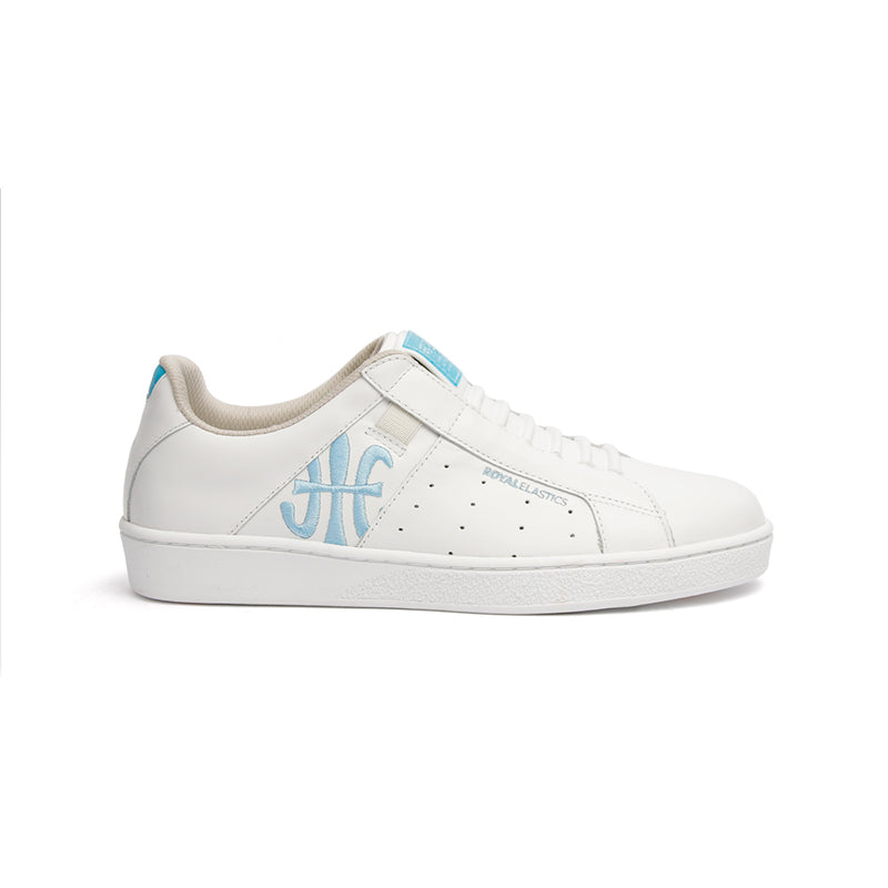 Women's Icon Genesis Bubblegum White Blue Leather Sneakers 91992-500 - ROYAL ELASTICS