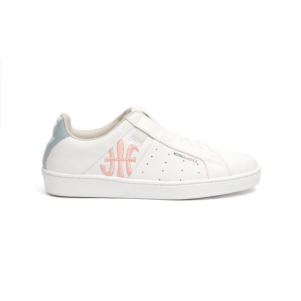 Women's Icon Genesis Crown White Pink Blue Leather Sneakers 91992-501 - ROYAL ELASTICS