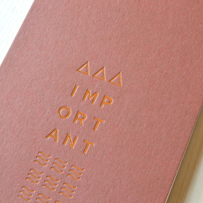 Copper foil bound notebook by Revel Paper
