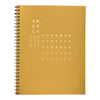 Prickly pear yellow sketchbook with foil cover by Revel Paper