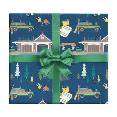 Fish camp wrapping paper by REVEL & Co.