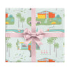 Palm Springs holiday wrapping paper by REVEL & Co.