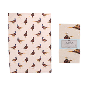 CGB GB00169 Holly House Pheasant Cotton Tea Towel