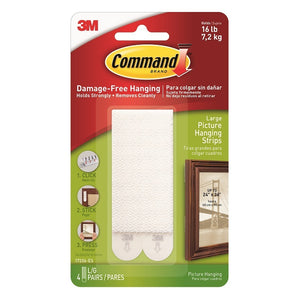 Command 17206 Large White Picture Hanging Strips
