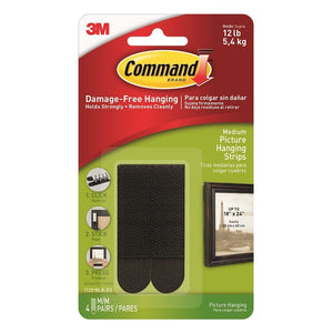 Command 17201BLK 4 Medium Black Picture Hanging Strips