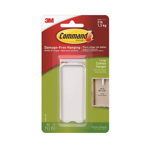 Command 17044 Large White Canvas / Picture Hanger