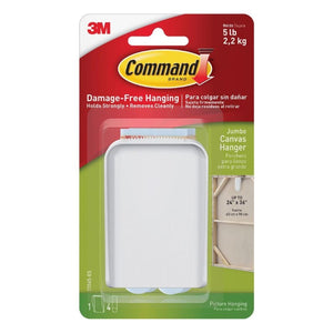 Command 17045 Jumbo White Canvas / Picture Hanger