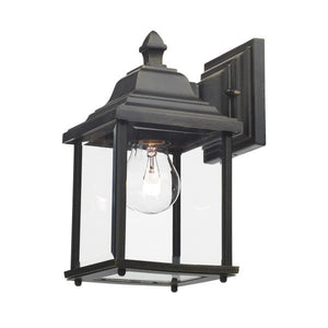 Dar DOY1635 Doyle Outdoor Wall Bracket Lantern Black Gold