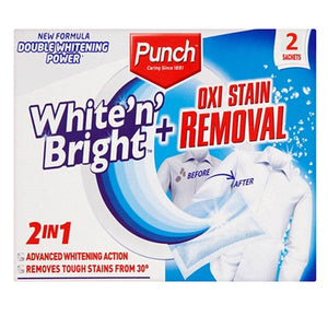 Spotless Punch White 'N' Bright + Oxi Stain Removal 2 in 1 - PACK 2