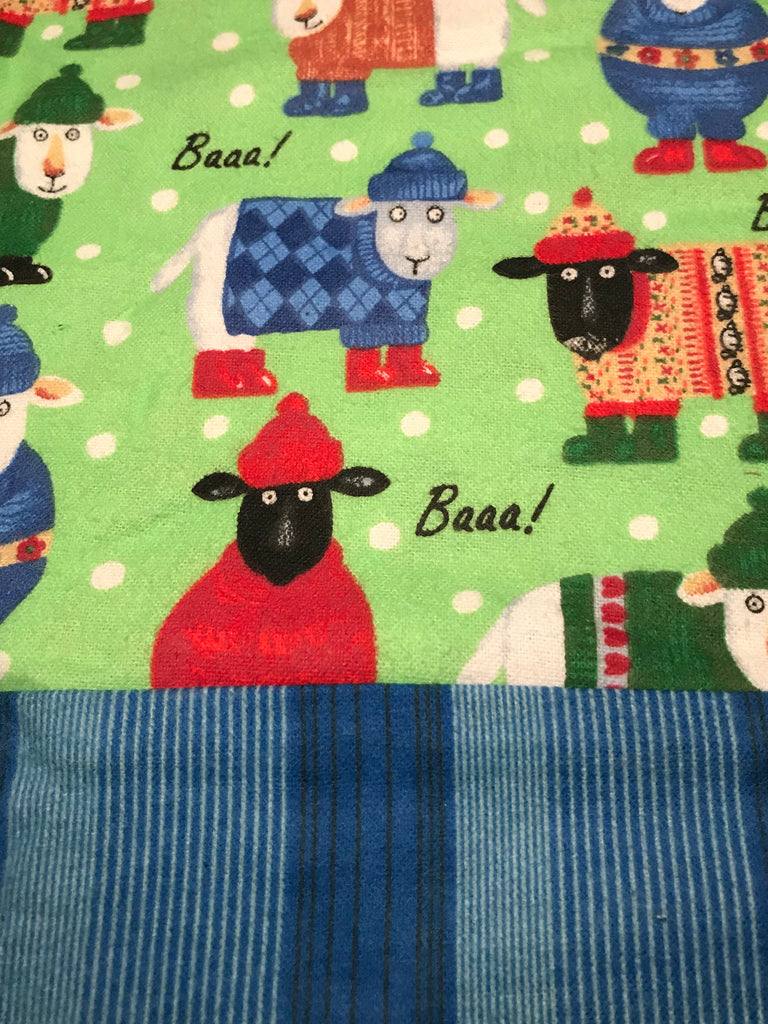 Flannel Pants - Sheep in Sweaters w/ Blue