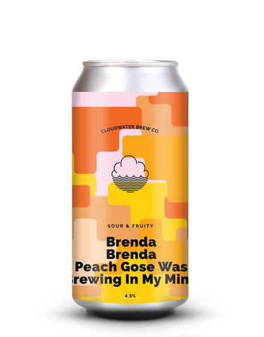 Cloudwater - Brenda Brenda Peach Gose Was Brewing In My Mind