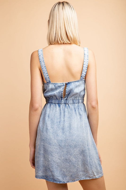 Acid Wash Mini Dress