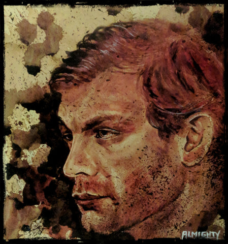 JEFFREY DAHMER : portrait: , Limited edition print (50) Signed/numbered (red ink)