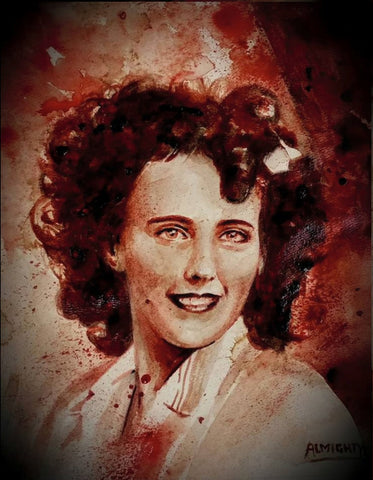 ELIZABETH SHORT/BLACK DAHLIA : portrait:alive, Limited edition print (50) Signed/numbered