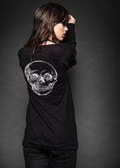 black skull knit cardigan