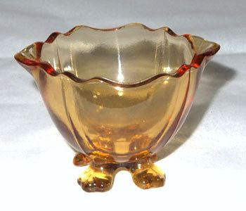 Elegant Glass - Cambridge - 3400 - Amber 4 Toed Individual Nut Cup 1 1/2""