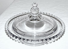 Elegant Glass - Imperial - Candlewick - Covered Candy Box / Jelly 6 1/4""
