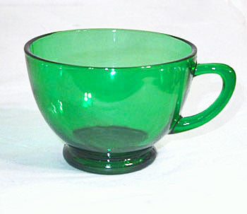 Anchor Hocking - Punch Cups - Forest Green - Lot of 19
