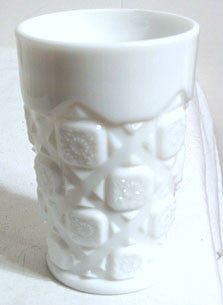 Westmoreland - Old Quilt - Milk Glass - Tumblers - Set of 7 - 4 1/5""