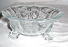 Elegant Glass - Heisey - Orchid - Dolphin Footed Bonbon 5 1/2""