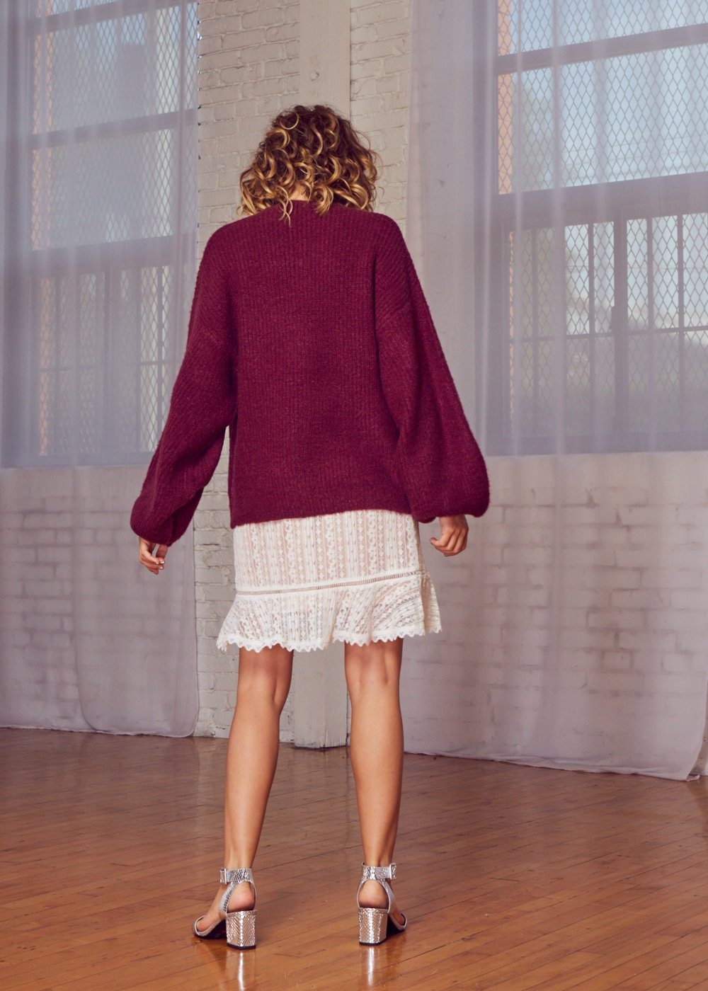 Lost + Wander The Cabernet Sweater