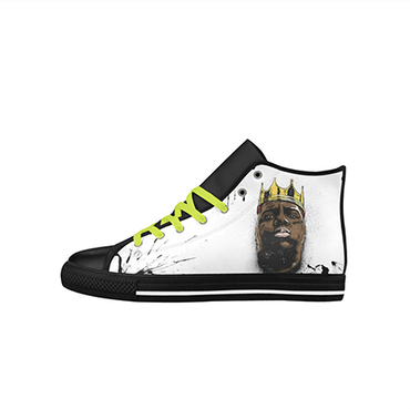 Biggie Smalls Custom Sneakers- Black