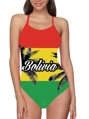 Bolivia Flag Bathing Suit