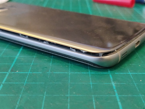 samsung galaxy s8 battery replacment, back cover lifted