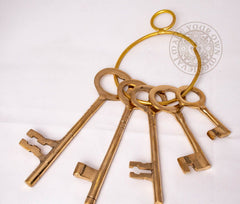 Brass Medieval Castle Dungeon Keys