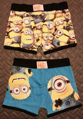 Primark Minions Boy's Pants Despicable Me Trunk Boxers 2 Pack Size 2 - 12 Years - Click. Buy. Love. - 1