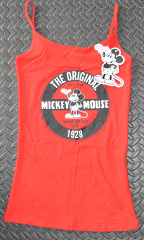 MICKEY MOUSE Primark Vest DISNEY T Shirt Red Womens Ladies UK Sizes 4-20