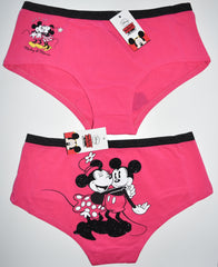 MICKEY AND MINNIE MOUSE KNICKERS DISNEY PANTIES LADIES SIZES UK 6-20