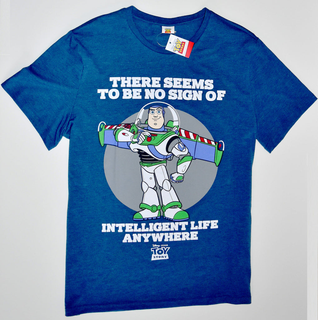 BUZZ TOY STORY T SHIRT LIGHTYEAR NO INTELLIGENT LIFE MENS UK Size XXL