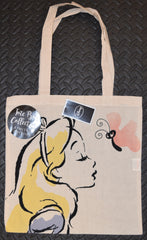 Alice In Wonderland Canvas Tote Bag 100% Cotton Disney Shopping Shoulder BNWT