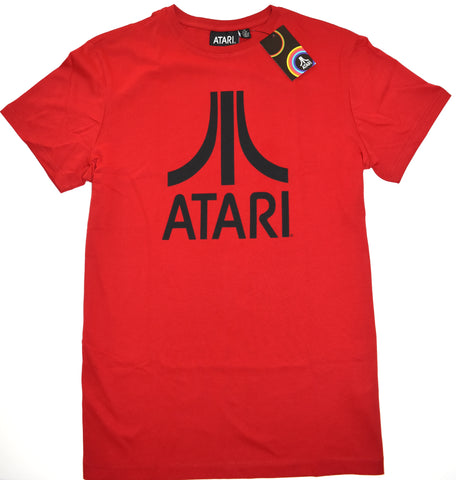 Atari T Shirt Primark Mens 100% Cotton Retro Red Black Logo UK Sizes M - XXL