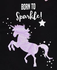 PRIMARK Unicorn Vest & Shorts Set PJ Born To Sparkle PYJAMAS UK Sizes 4 - 20 NEW