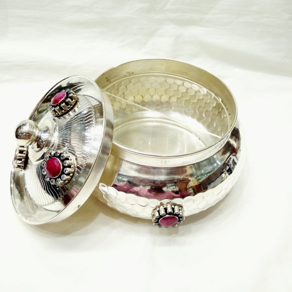 Silver Gifts For Indian Wedding: Buy Beautiful 925 Pure Silver Decorative Dry Fruit Box