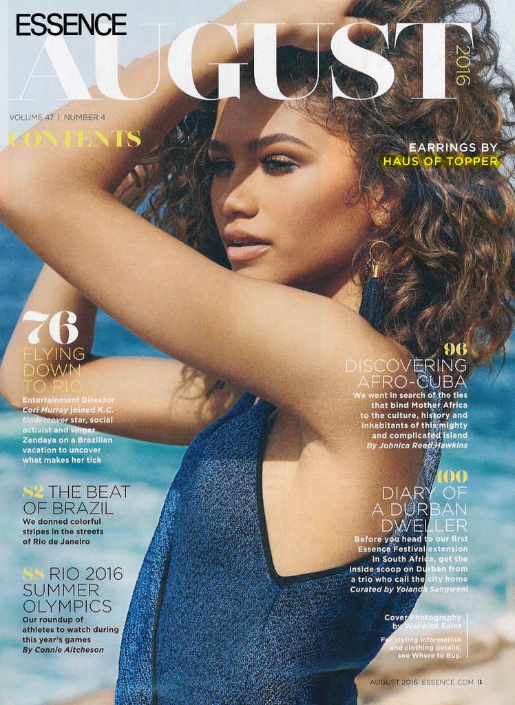 HoT Press: Zendaya in August Issue of Essence Magazine