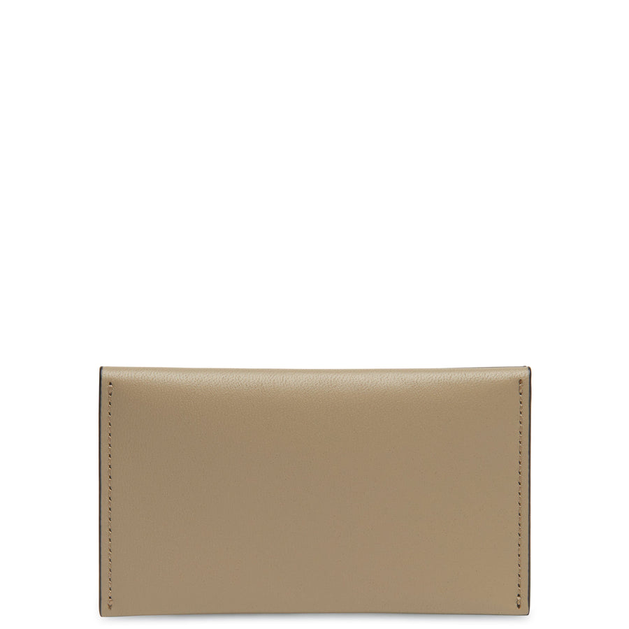 Calf Carryall Card Case - Taupe + True Black - OAD NEW YORK