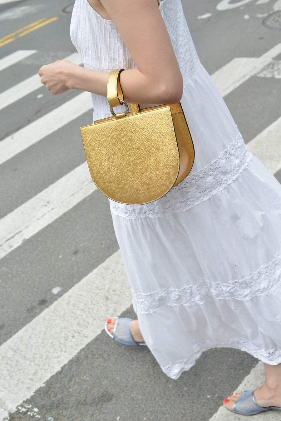 Dome Wristlet - Honey Gold - OAD NEW YORK