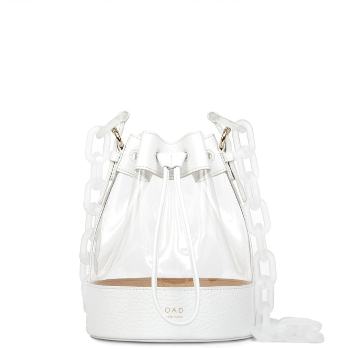 Clear Marta Bag - Bright White - OAD NEW YORK