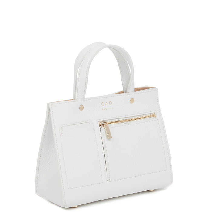 Mini Pocket Tote - Bright White