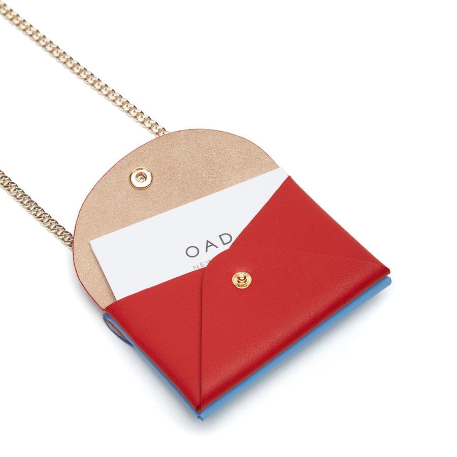 Assembly Chain Cardlet - Pool Blue + Rouge - OAD NEW YORK